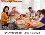 family with grandparents... | Shutterstock . vector #341486426