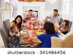 family with grandparents... | Shutterstock . vector #341486456