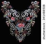 flowers design | Shutterstock . vector #341488508