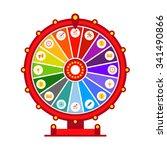 wheel of fortune vector... | Shutterstock .eps vector #341490866