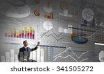 rear view of businessman... | Shutterstock . vector #341505272