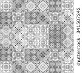 colorful vintage ceramic tiles... | Shutterstock . vector #341507342