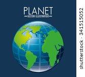 earth planet design  vector... | Shutterstock .eps vector #341515052