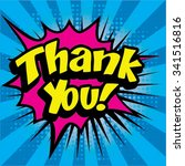 "pop art comics icon ""thank you ""... 