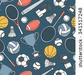 hand drawn seamless pattern... | Shutterstock .eps vector #341517248