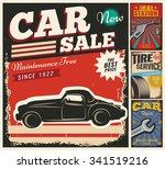 vintage retro style. set of... | Shutterstock .eps vector #341519216