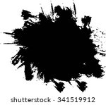 splatter background . black ink ... | Shutterstock .eps vector #341519912