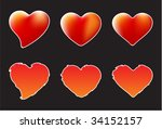 a collection of of hearts  ... | Shutterstock .eps vector #34152157