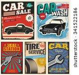 vintage retro stile. set of... | Shutterstock .eps vector #341522186