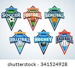 sport team logo emblems  badge  ... | Shutterstock .eps vector #341524928
