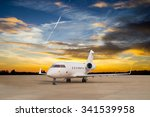 jet airplane stop for wait vip... | Shutterstock . vector #341539958