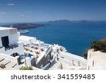 santorini  greece  may 13  2015 ... | Shutterstock . vector #341559485
