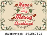 have a very merry christmas.... | Shutterstock .eps vector #341567528