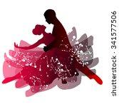 man and woman dancing tango....   Shutterstock .eps vector #341577506