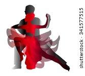 man and woman dancing tango.... | Shutterstock .eps vector #341577515