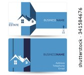 business card for real estate... | Shutterstock .eps vector #341584676