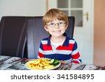 Happy Adorable Kid Boy With...