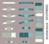 tape  banners  badges set | Shutterstock .eps vector #341598002