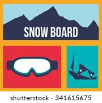 winter concept with sport icons ... | Shutterstock .eps vector #341615675