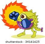 illustration of  a cartoon...   Shutterstock . vector #34161625