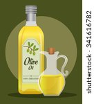 olive oil concept with organic... | Shutterstock .eps vector #341616782