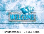 Winter Welcome Sign With Rope...