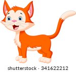 Stock vector cute cat cartoon 341622212