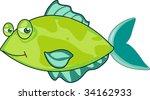 illustration of  a cartoon fish ... | Shutterstock . vector #34162933