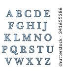 alphabet letters  isolated on... | Shutterstock . vector #341655386