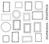 hand drawn frames set. cartoon...   Shutterstock .eps vector #341659616