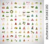 christmas icons and elements... | Shutterstock .eps vector #341661182