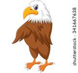 eagle cartoon posing  | Shutterstock . vector #341667638