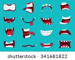 Comic Mouth Set  Illustration...