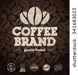vector coffee labels isolated... | Shutterstock .eps vector #341683025