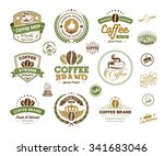set of vintage retro coffee... | Shutterstock .eps vector #341683046