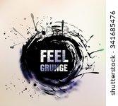 abstract retro vintage grunge... | Shutterstock .eps vector #341685476