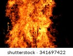 photo of the campfire flames in ... | Shutterstock . vector #341697422