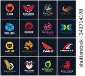 animal logo set   Shutterstock .eps vector #341714198