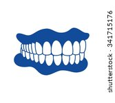 logo set of dental  vector icon ... | Shutterstock .eps vector #341715176