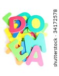 colorful letters on white... | Shutterstock . vector #34172578