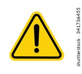 hazard warning attention sign | Shutterstock .eps vector #341736455