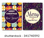 merry christmas vector... | Shutterstock .eps vector #341740592
