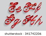 ribbon typography font typeface ... | Shutterstock .eps vector #341742206
