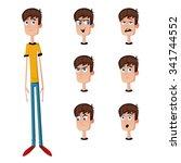 a character man | Shutterstock .eps vector #341744552