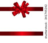 gift card with red bow and... | Shutterstock .eps vector #341745242