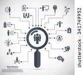 human resource   conceptual... | Shutterstock .eps vector #341749952