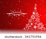 christmas tree with defocused... | Shutterstock . vector #341751956