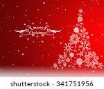 christmas tree with defocused... | Shutterstock . vector #341751956