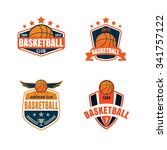 basketball logo template vector ... | Shutterstock .eps vector #341757122