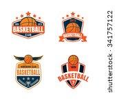 basketball logo template vector ... | Shutterstock .eps vector #341757122
